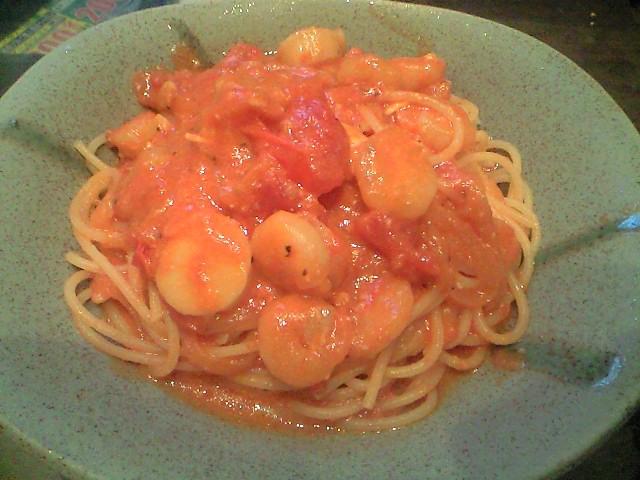 魚介のトマトクリームソーススパゲティ